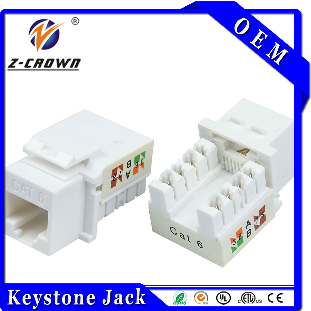 Cat6 UTP 90° Keystone Jack