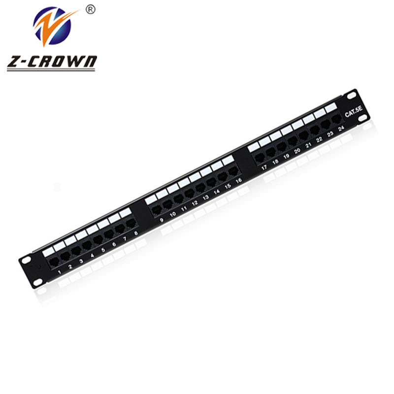 24Ports Cat5e UTP Patch Panel